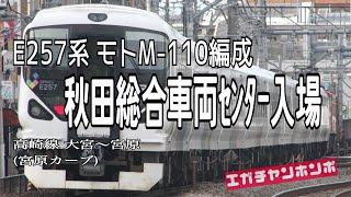 """【配給輸送】190411 E257系モトM-110編成 秋田入場/Enter the series E257 """"Moto M-110"""" Akita factory."""