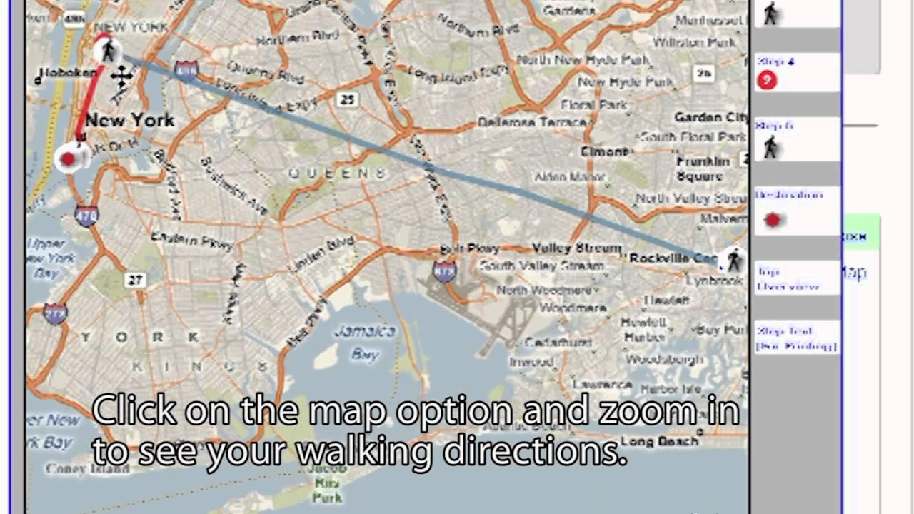 Trip Planner YouTube - Walking map planner