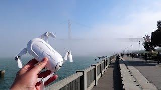 超小型ドローンDOBBYでどこでも空撮しながら出社! #182