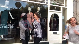 Women scream so loud:  MANNEQUIN PRANK