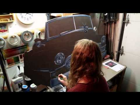 1951 Cadillac - Time-lapse Painting of a Havana, Cuba Daily Driver
