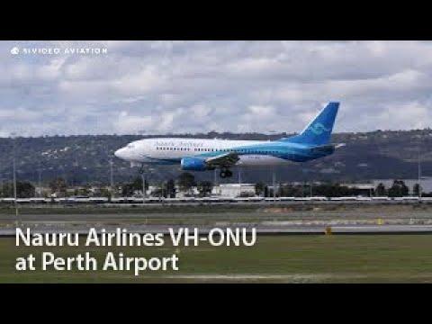 BOEING 737-300. Nauru Airlines (VH-ONU) Boeing 737-3U3 at Perth Airport.