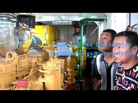 Trial Testing of China Hydraulic Cutter Suction Dredger