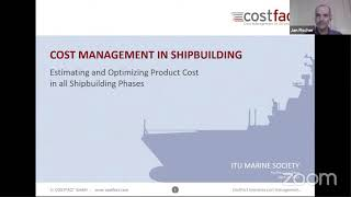 İTÜ Gemi Mühendisliği Kulübü Cost Management in Shipbuilding Semineri (Jan Fischer)