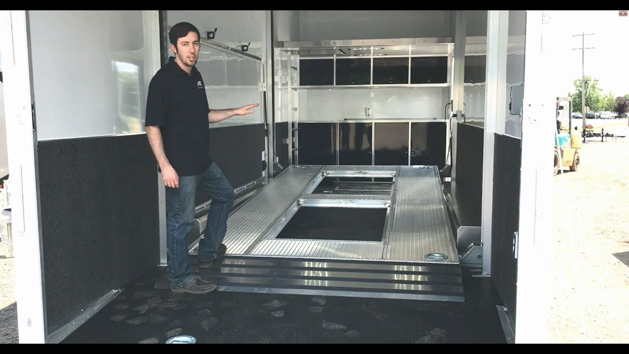 Stacker Trailer Lift : Atc aluminum ft stacker trailer st with tilting k