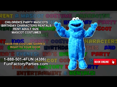 CHILDREN'S PARTY MASCOTS | BIRTHDAY CHARACTERS RENTALS | RENT ADULT SIZE MASCOT COSTUMES
