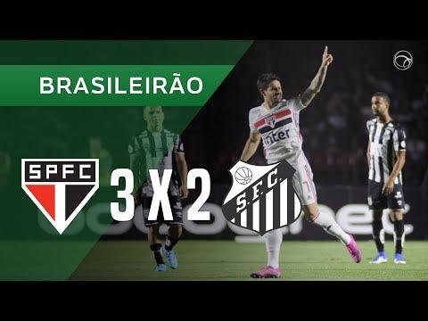 SÃO PAULO 3 X 2 SANTOS - GOLS - 1008 - BRASILEIRÃO 2019