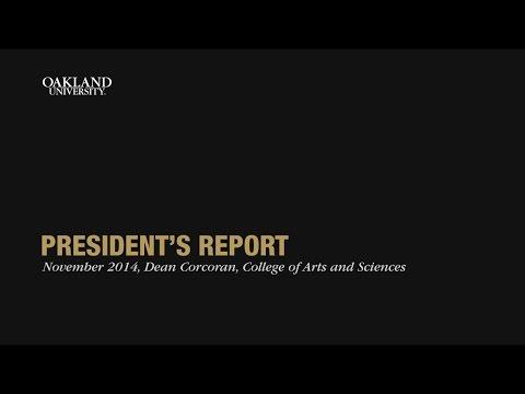 President's Report, Nov. 11, 2014, Dean Corcoran Presentation