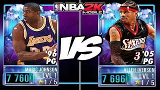 DIAMOND Magic VS DIAMOND Iverson BEST Point Guards In NBA 2K Mobile
