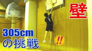 305cmの挑戦 #18 壁ニモ負ケズ。腕振りジャンプ【男女混合バレーボール】 Men and Women Mixed Volleyball JAPAN TOKYO