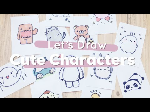 Let's Draw : Cute Characters! (Totoro, Baymax, Pusheen And More) | Doodles By Sarah