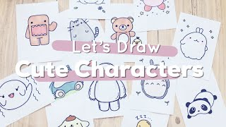 Let's Draw : Cute Characters! (Totoro, Baymax, Pusheen and more) | Doodles by Sarah thumbnail