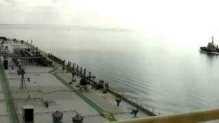Crude oil tanker time lapse Port of Hastings (Westernport)