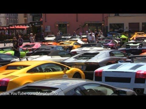 Epic +200 Lamborghinis Town Invasion!
