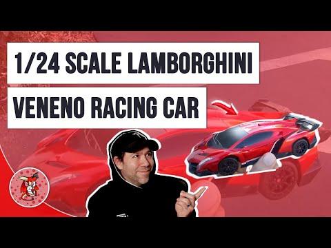 RW Toy RC Lamborghini Veneno Racing Car 1/24 Scale Video Review