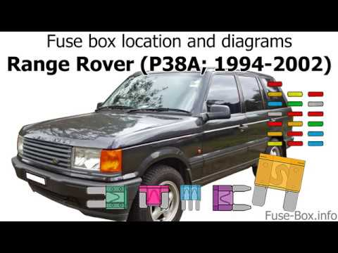 97 land rover discovery fuse box fuse box location and diagrams range rover  p38  1994 2002  youtube  range rover  p38