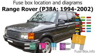 Fuse box location and diagrams: Range Rover (P38; 1994-2002) - YouTubeYouTube