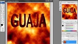 tutorial photoshop letras efecto lava por 0o0guajita0o0