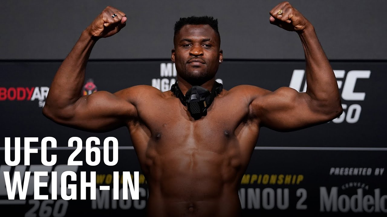 UFC 260: Miocic vs Ngannou 2 Weigh-in