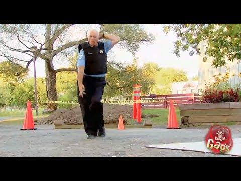 Hip Hop Dancing Cop Does The Moonwalk Gag