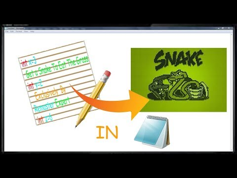How To Make A Classic Snake Game In Notepad (With Downloadable Code) | Remaster Expert