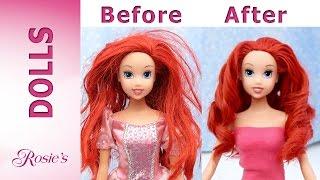 Little Mermaid Ariel's Makeover Part 1- Hair Repair