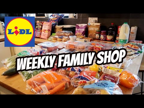 LIDL GROCERY HAUL & FAMILY MEAL PLAN 💙