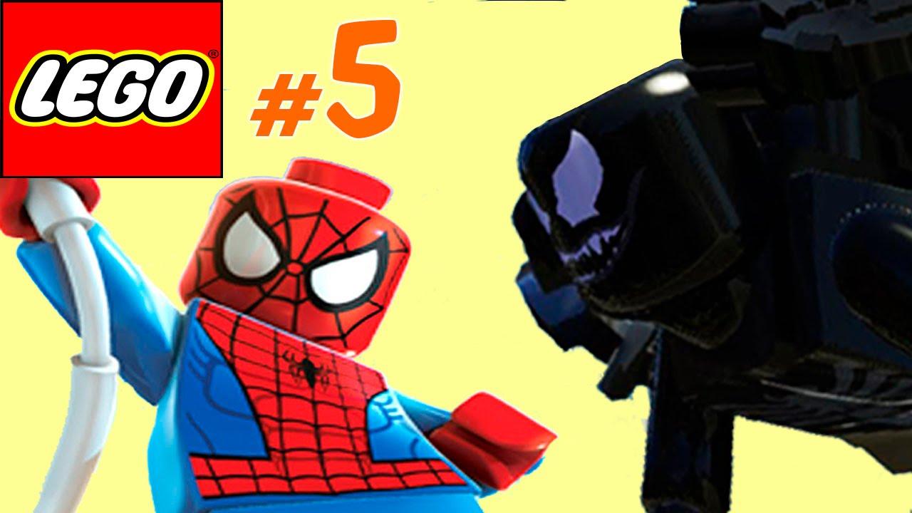 Человек паук и его друзья против Венома и его водолазов ...