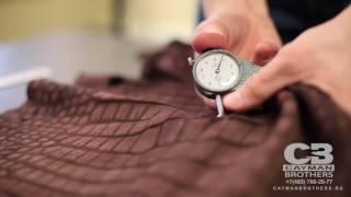 ВидеоОбзор#19 Крокодиловая замша коричневого цвета