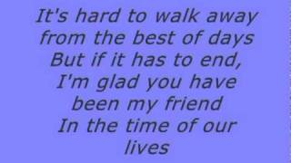 Tyrone Wells - Time of our lives lyrics
