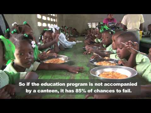 In Haiti, school feeding and nutrition improves access to education