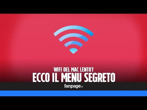 Wifi mac lento ecco il menu segreto per controllate la for Menu segreto palazzetti