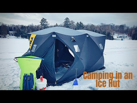 Camping In An Ice Hut | Ice Fishing | Northern Ontario Canada 🇨🇦