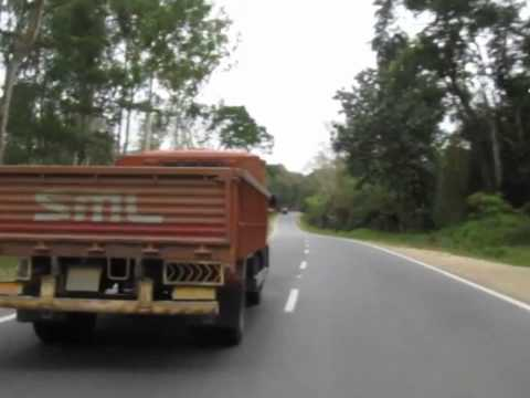 Driving along SH-88 (Mani-Mysore State Highway)