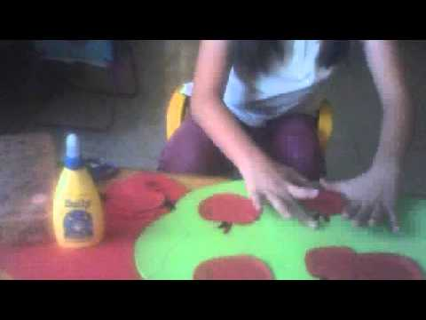 como hacer arbol de fomi - YouTube