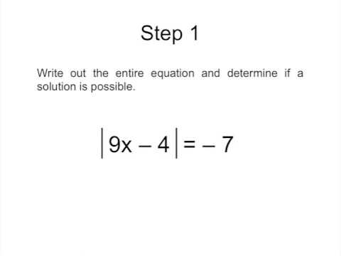 Algebra I - Absolute Value Equations - Tutorial 2013 - YouTube