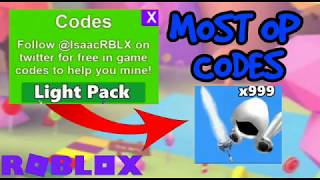NEW MOST *OP* CODES FOR FREE LIGHT PACK! - 2018/2019! - Mining Simulator - Roblox
