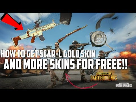 (PUBGM)🔥🔥How to Get Scar-L gold skin and MORE expensive Items for free best trick....!