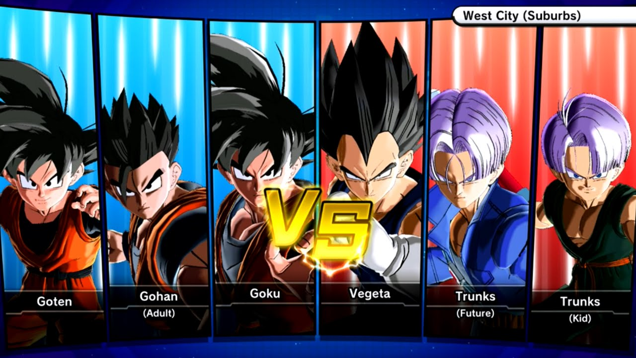 gokus family vs vegetas family dragon ball xenoverse