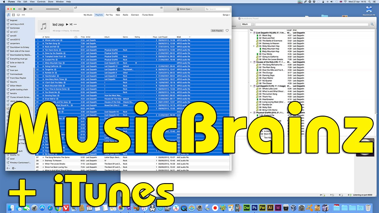 6c8d9795af6dc Using Musicbrainz Picard directly with your iTunes library No.2 ...