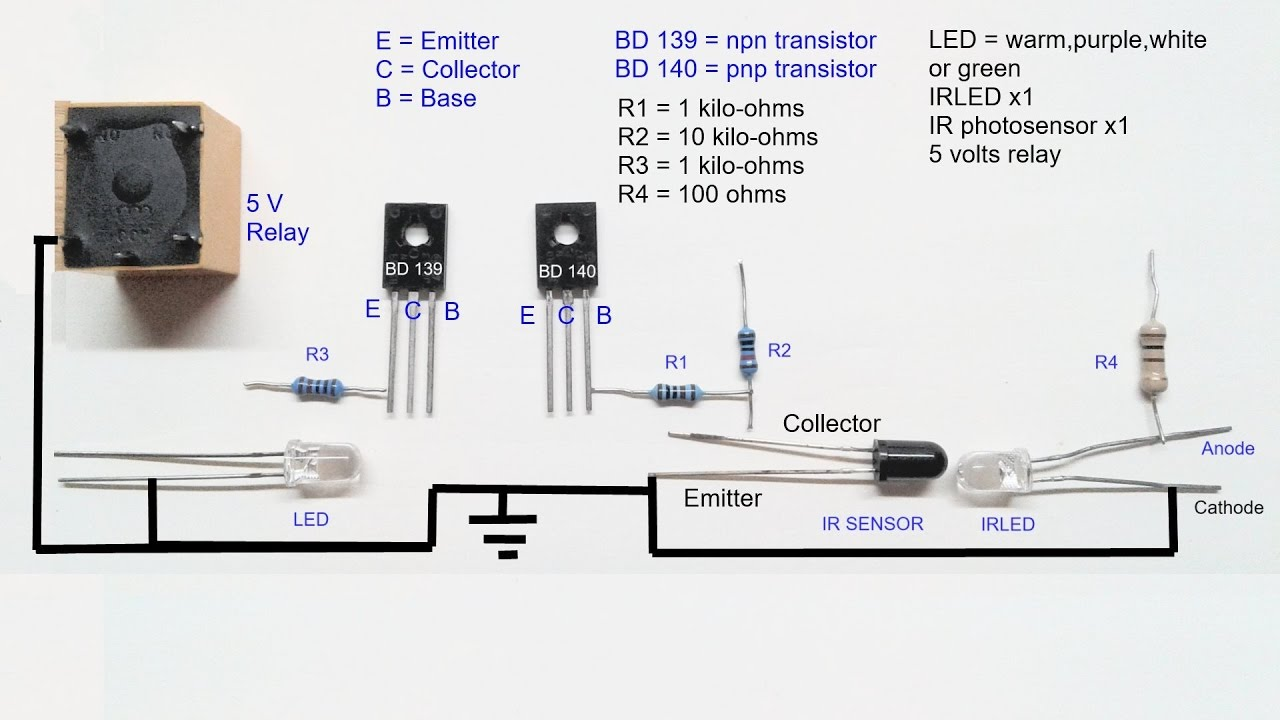 Infrared proximity sensor circuit diagram - YouTube