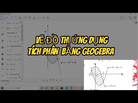 [Geogebra-Bài 2] Hướng dẫn chi tiết vẽ đồ thị ứng dụng tích phân bằng geogebra