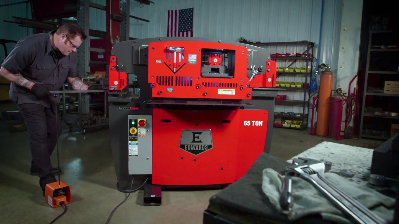 Edwards 65 Ton Ironworker With PowerLink System