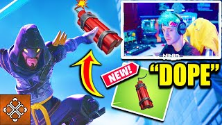 Ninja Reacts To *New* OP Dynamite Explosive Item (Wild West Fortnite Update News)