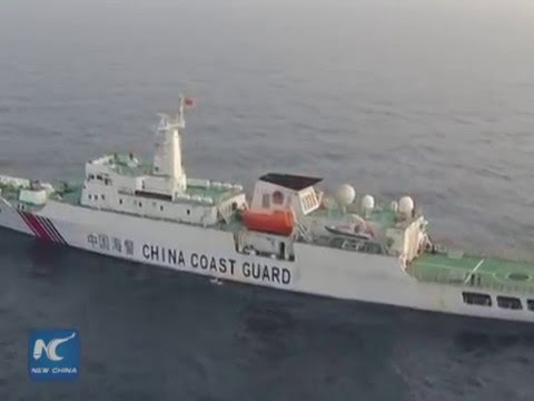 Drone footage: Chinese vessels conduct fishery patrol in Beibu Gulf