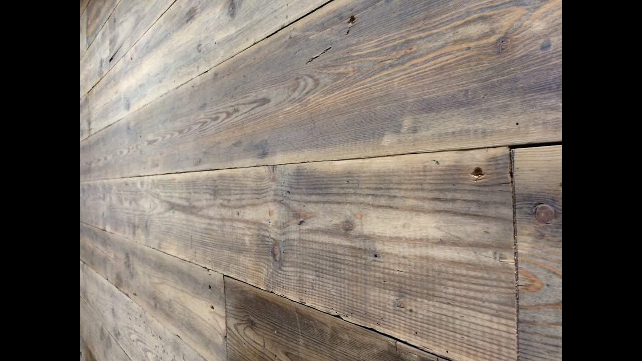 Wood Feature Wall reclaimed wood feature wall ( barbers refurb part .1) - youtube
