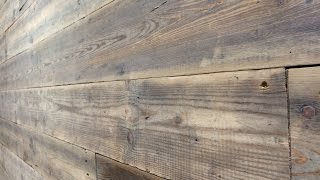 Reclaimed Wood Feature Wall ( Barbers Refurb Part .1)