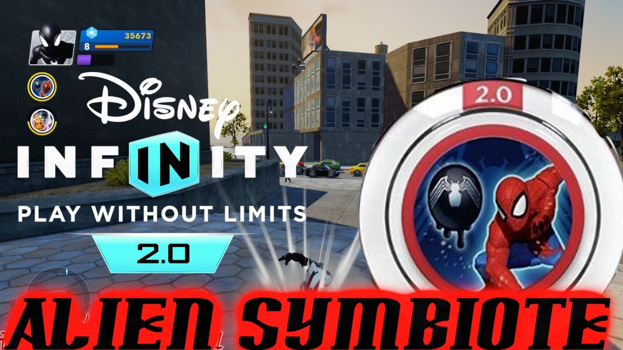 disney infinity 2.0 marvel super heroes - alien symbiote black