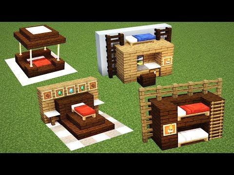 4 спальни в майнкрафте!