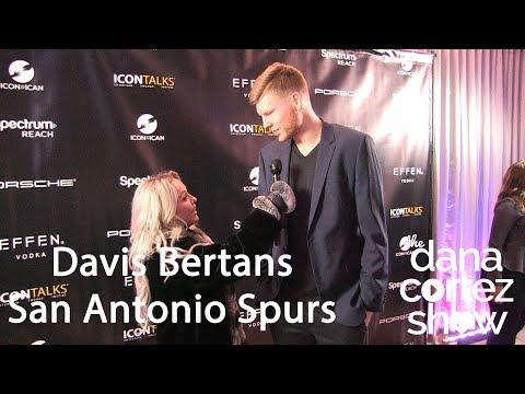 Spurs player Davis Bertans talks upcoming basketball season with Dana Cortez